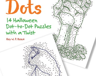 Halloween Activities 14 Dot to Dot Puzzles Skip Counting colouring pages for kids and adults