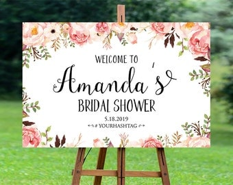 Bridal Shower sign, Bridal Shower Welcome Sign, Bridal Shower decoration, PRINTABLE Welcome sign, Bridal shower welcome sign - US_BS0106a