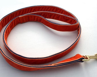 Luxury Velvet Lead!...Vivid Orange!..Luxurious and Strong!....Match up with our Luxury Collars!!