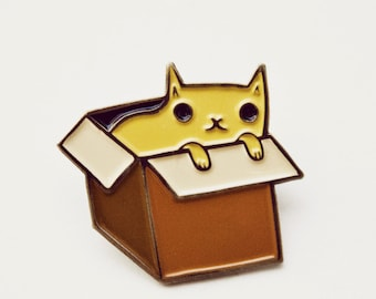 Backpack pin - Cat pin - pins and buttons - kawaii cat brooch cat pins cat enamel pin backpack pins tumbler pins button pins