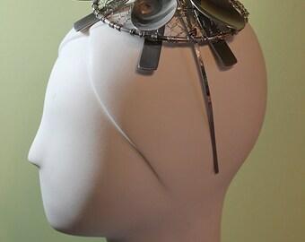 Unique Wire and Spoon Fascinator - Avant Garde Hat - Unique Hat - OOAK