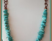 Turquoise Magnesite Necklace and Earrings