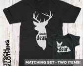 Hunting Matching Family T-Shirt Set - Father Son T-shirts Shirt Set - Father Daughter Matching Shirts - Daddy and Baby Bodysuit AR-114-115