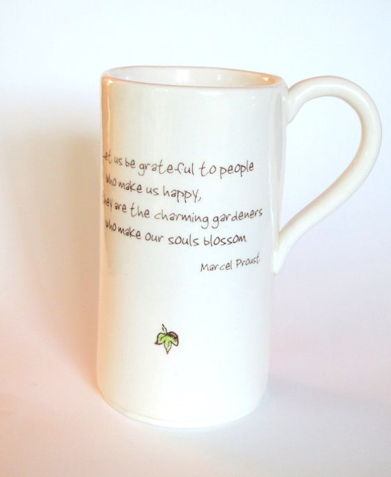 Citation inspirante tasse caf amiti et le par neceramics for Jardinier traduction anglais