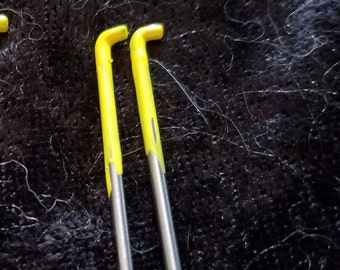 CRAZY Felting Needles 38 gauge crown point felt needle 2 pack color coded