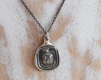 Achievement - Eagle Wax Seal Crest Necklace - I Soar - Aim High - 231