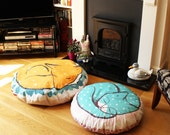 Giant Fox cushion / cat cushion - throw pillow (filler not included)- huge throw bean bag fox plush homewares housewares retro cute cats