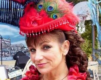 Victorian Tea Hat Riding Side Saddle Hat Red Hat - Spirit of Silverado - Women's Western Hat