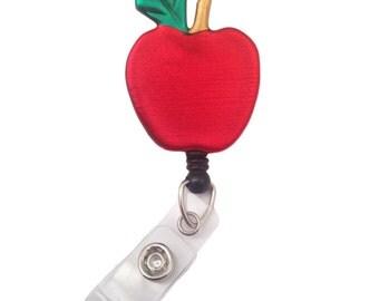 Apple Retractable ID Badge Holder