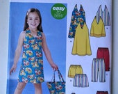 Simplicity 5531 Girls Easy to sew halter dress, shorts, skort, pants and purse pattern from 2003 - Uncut - Girls Sizes 3, 4, 5, 6, 7, 8
