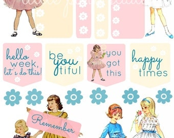 """Happy Times Sticker Sheet (4x6"""" or 5x7"""" planner stickers)"""