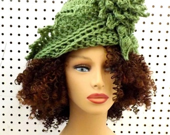 Cloche Hat 1920s Cloche Hat Women, Roaring 20s Fashion Roaring 20s, Cloche Hats, Sage green Hat, Lauren Hat