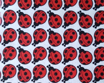 "Printed Felt Rectangle: Ladybugs (9""x12"")"