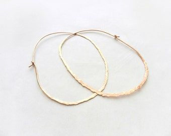 Large Hoop Earrings Copper Earrings Silver Earrings Statement Earrings Copper Jewelry Silver Jewelry Hoop Earrings, Made by Durango Rose