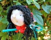Lola the Kitchen Witch - Kitchen Witch Doll - Herb Witch - Green Witch - Wild Woman - Good luck doll for your kitchen!