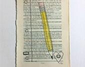 Blackout Poetry (practice love) Original Artwork & Poem