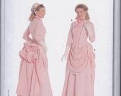 Burda 7880 Misses Women's 1888 Victorian Steampunk Bustle Skirt Dress Costume UNCUT Sewing Pattern