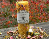 Mysteries of the Melissae Beeswax Spell Candle of the Bee Priestess - Garden Blessing, Wisdom, Pursuing Dreams, Accomplishing the Impossible
