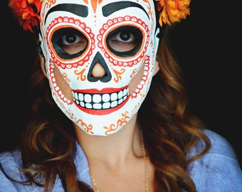 Day of the Dead Paper Mache Sugar Skull Mask