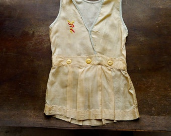 1920s/30s Toddler Size Approx. 2 Years Old Jumper Dress