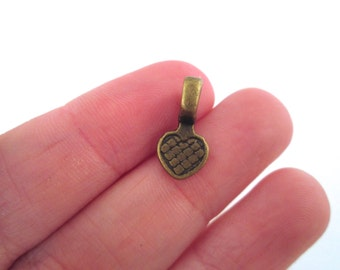 SMALL brass plated heart bails, pick your amount