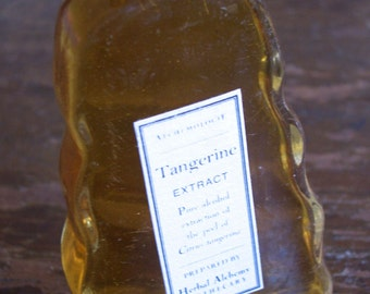 Tangerine Extract in a Vintage Bottle, Citrus Zest Tincture, Artisanal, Small Batch, Handmade in Brooklyn, NY