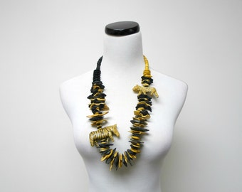 QUEEN of the JUNGLE . chunky animal necklace