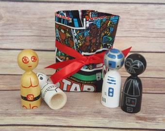 Star Wars Finger Puppets // Star Wars // Finger Puppets // Peg Dolls // Gift Sets // Stocking stuffers