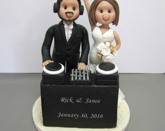DEPOSIT for a Customized DJ disc jockey theme Wedding Cake Topper