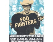 Foo Fighters Sonic Highways Tour Screen Print Concert Poster by Print Mafia