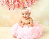 Pink Rosette Headband, Baby Headband, Girls Headband, Photography Prop