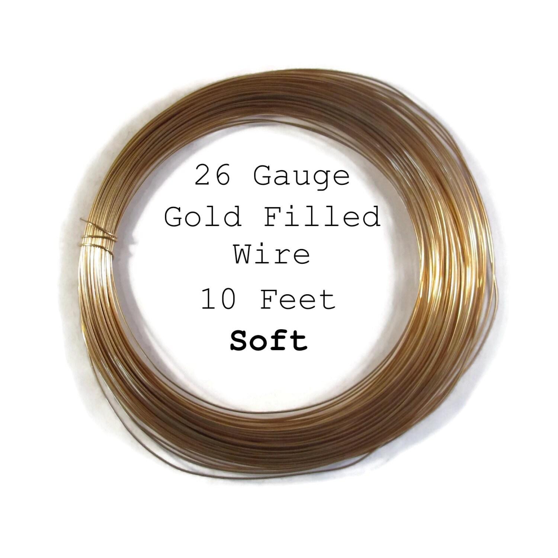 26 Gauge Wire >> 26 Gauge Wire Soft Gold Filled Wire Ten Feet 120 Inches Round