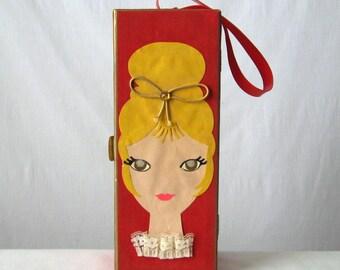 Wig Box 60s Mod Wig Case Vintage Salon Hair Care Mid Century Decor Hair Salon Decor Barber Shop Decor