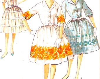 60s Rockabilly Dress Front button Party Frock Grad Vintage sewing pattern Simplicity 4314 Bust 36 cocktail party UNCUT