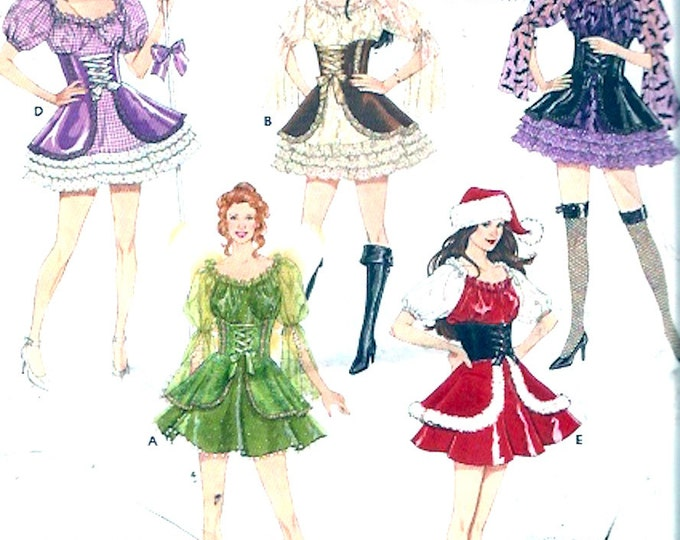 Womens Santa Costume Sewing pattern Angel Pirate Little bo Beep Witch Simplicity 4046 Size 6 to 12 UNCUT