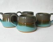 Stoneware Espresso Cups Set of 4