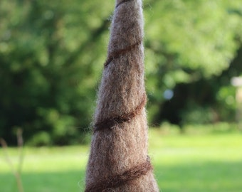 Needle Felted Gnome-Brown Ombre