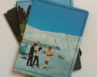 Slim Wallet- Vintage New Zealand Postcard- Choose 1