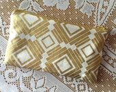 Gold Rectangular Squares  - Zipper Pouch