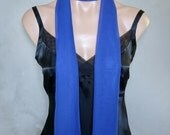 Royal Blue Extra Long Slim Skinny Scarf  (71 inches long / 6 inches wide)