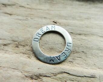 Sterling Silver Dream Hoop Supply, Metal Jewelry Supply Hoop Sterling Silver, Dream Pendant