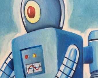 SkyBot - Original Art by Kevin Kosmicki