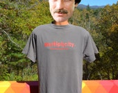 vintage 90s t-shirt MULTIPLICITY movie film cloning science tee Medium Large gray