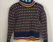 70s 80s Navy Blue Pullover Sweater Size 4t 5t