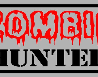ZOMBIE HUNTER License Plate Free Shipping