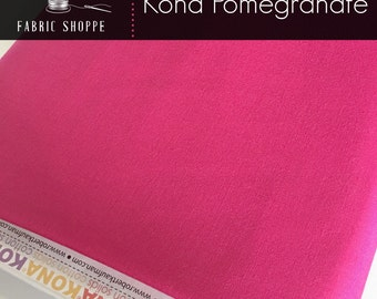 Kona cotton solid quilt fabric, Kona POMEGRANATE 1295, Kona fabric, Solid fabric Yardage, Kaufman, Pink fabric, Choose the cut