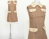 1960s Mini Dress --- Vintage Polka Dot Dress