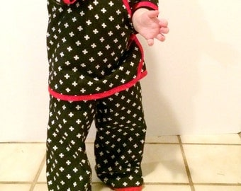 Baby Kimono Pants Pattern newborn through 24m boys/girls PDF Instant by Whimsy Couture