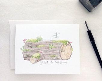 Yule Log Holiday Card