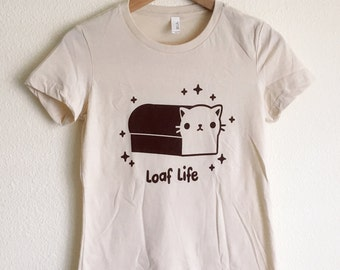 Cat Loaf T-Shirt - Kitty Loaf Shirt - (Available in Ladies sizes S, M, L, XL)